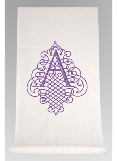DB Exc Pers Flourish Design Initial Aisle Runner - Wedding Gifts & Decorations