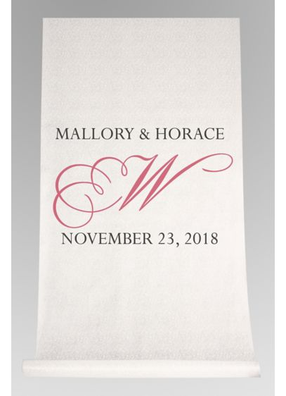 DB Exc Personalized Flourish Initial Aisle Runner - Wedding Gifts & Decorations