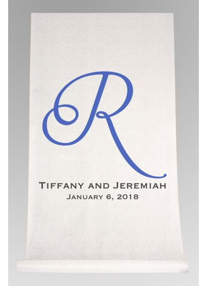 DB Exc Personalized Script Initial Aisle Runner - Wedding Gifts & Decorations