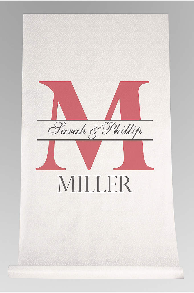 DB Exc Personalized Bold Initial Aisle Runner - Celebrate your union beautiful aisle runner as you