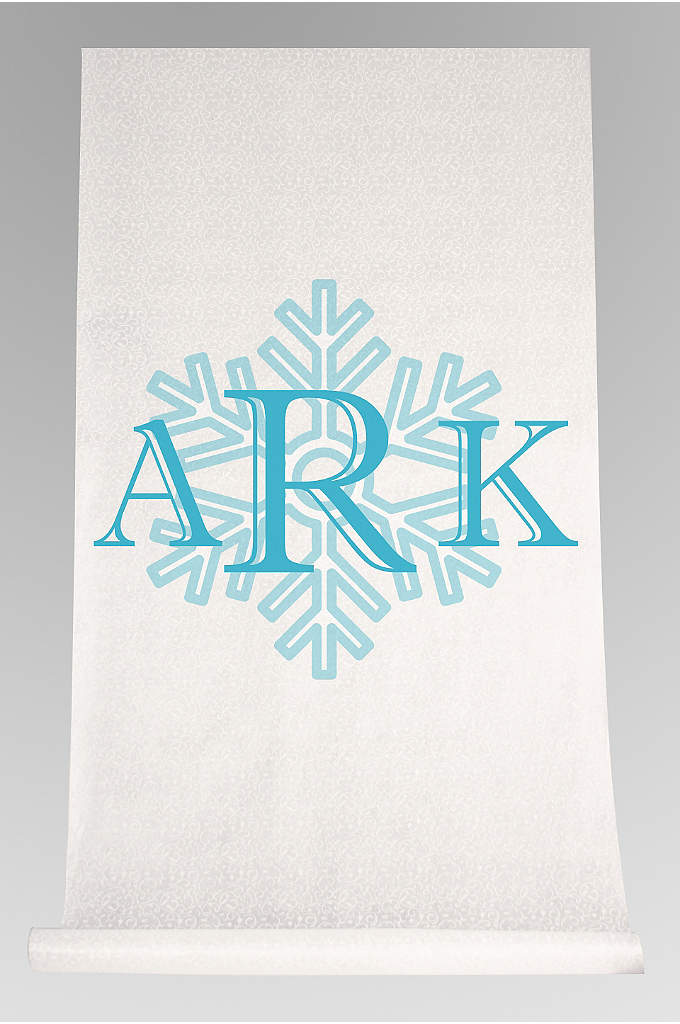 DB Exc Personalized Snowflake Monogram Runner - Celebrate your union while walking down an aisle