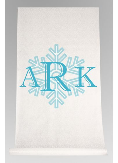 DB Exc Personalized Snowflake Monogram Runner - Wedding Gifts & Decorations