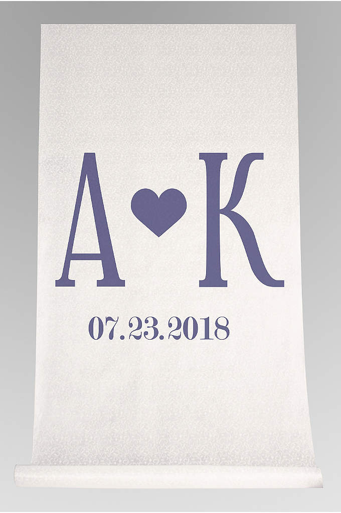 DB Exc Personalized Initials Heart Aisle Runner - Celebrate your union as you make your way