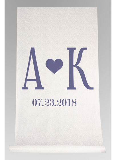 DB Exc Personalized Initials Heart Aisle Runner - Wedding Gifts & Decorations