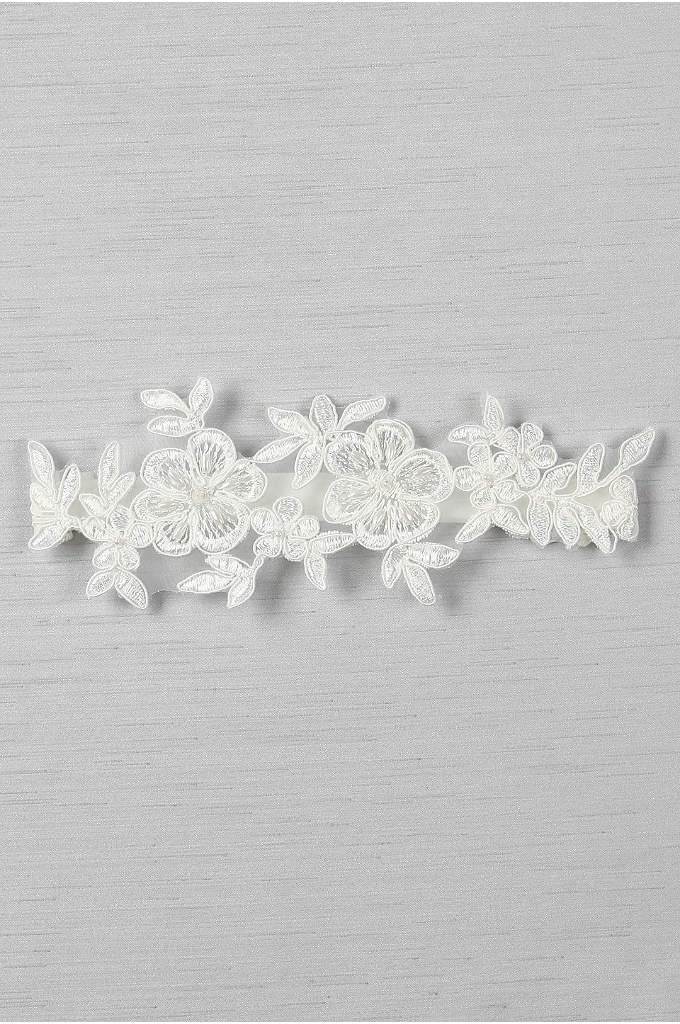 Sophia Applique Garter - Add intricate detail to your wedding ensemble with