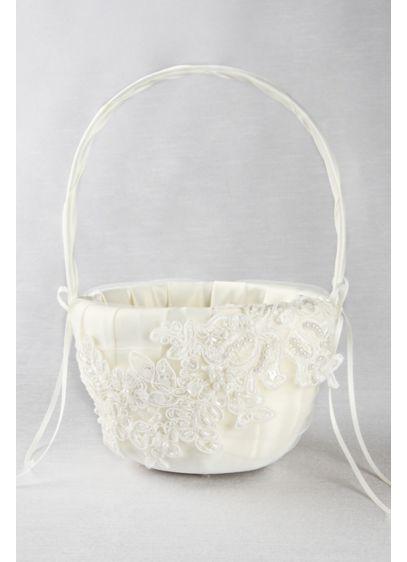 Sea of Petals Flower Girl Basket - Wedding Gifts & Decorations