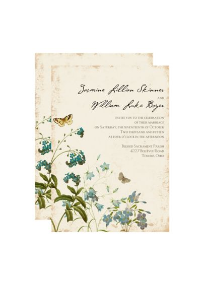 Natural Glade Invitation Sample - Wedding Gifts & Decorations