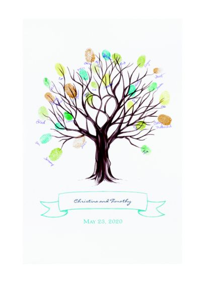 Tree Thumbprint Mat Guest Book Alternative - Wedding Gifts & Decorations