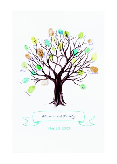 Tree Thumbprint Mat Guest Book Alternative DB9855AA1A