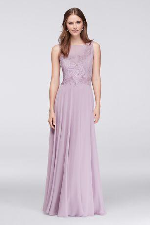 Chiffon bridesmaid dresses with lace