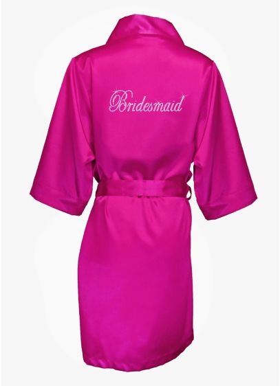 DB Exclusive Double Rhinestone Bridesmaid Robe - Wedding Gifts & Decorations
