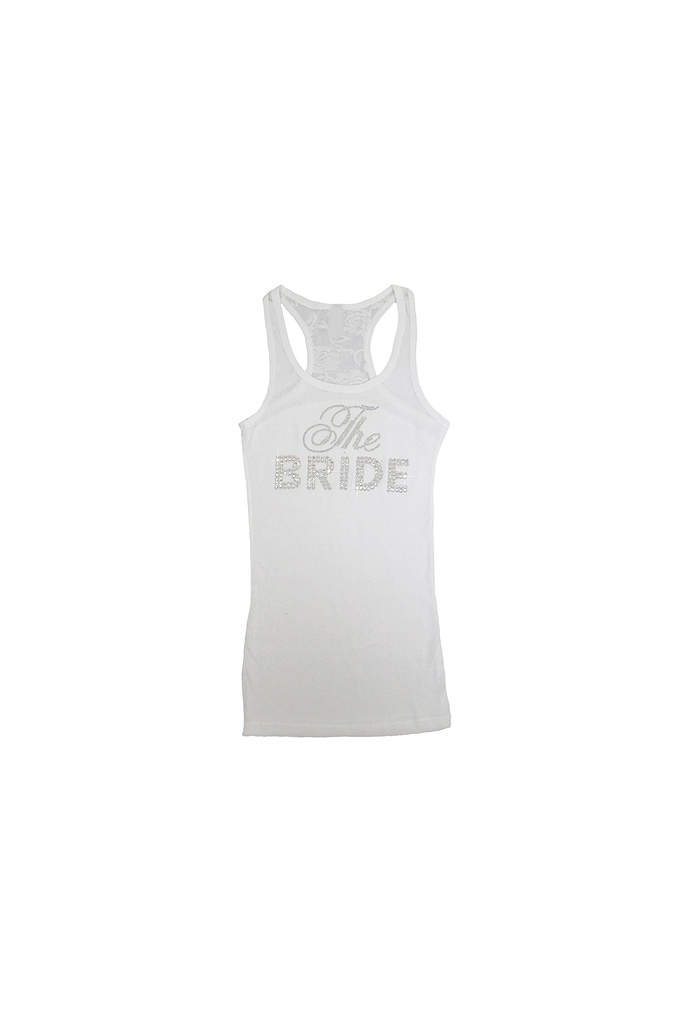 DB Exclusive The Bride Lace Racerback Tank - This adorable tank features a dazzling double row