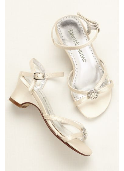 Flower Girl Dyeable Sandal with Pearl Ornament - Wedding Accessories