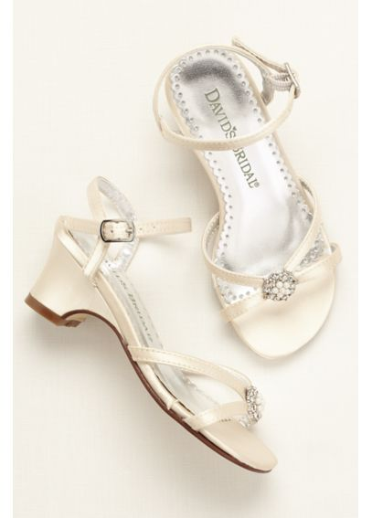 Flower Girl Dyeable Sandal with Pearl Ornament DBCARLY