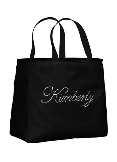 Personalized Rhinestone Script Name Tote Bag - Wedding Gifts & Decorations