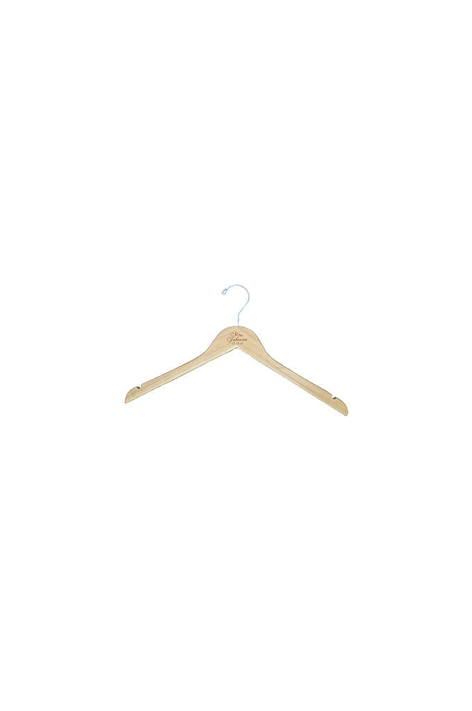 Personalized Mrs. Wedding Hanger - This hanger will hold your dress beautifully until