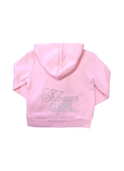 Big Bling Rhinestone Flower Girl Hoodie - Wedding Gifts & Decorations