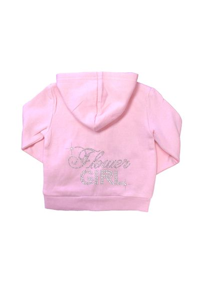 Big Bling Rhinestone Flower Girl Hoodie DBFGBBH