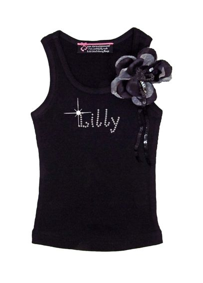 Personalized Flower Girl Tank with Flower Corsage DBFGCRZPT
