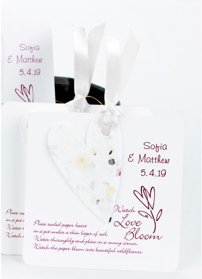DB Exc Personalized Seeded Heart Favors Pack of 50 - Wedding Gifts & Decorations
