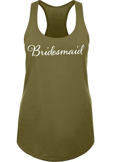 White (Bridesmaid Racerback Tank Top)