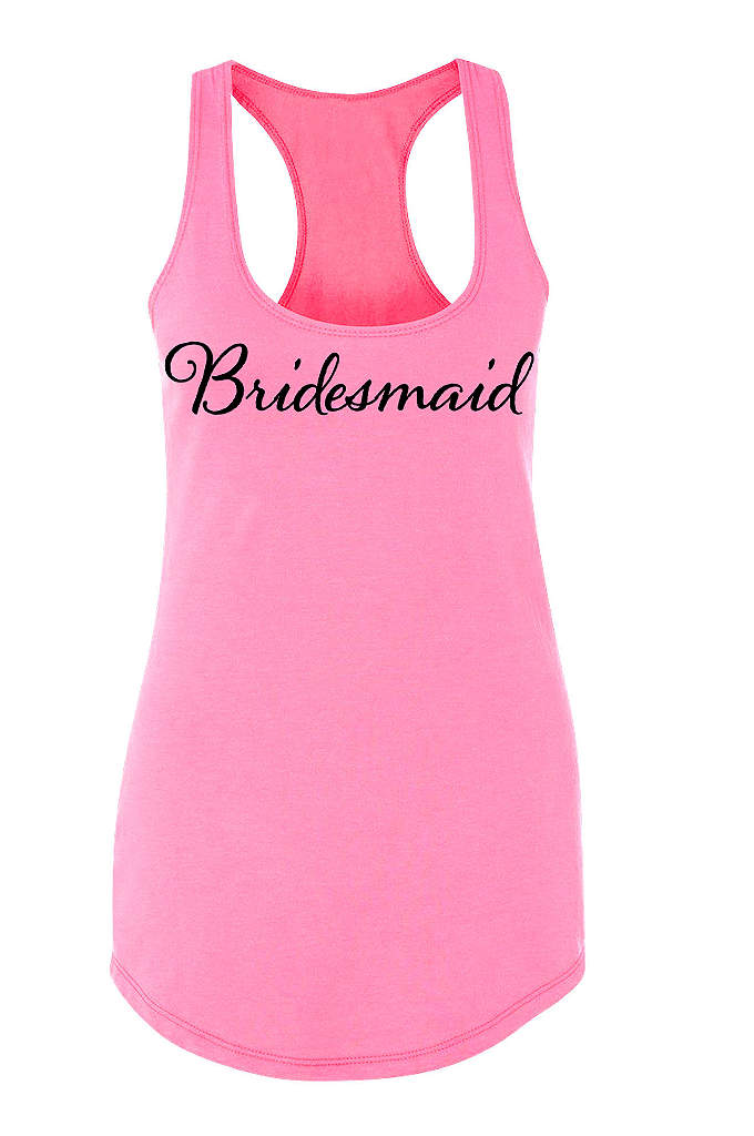 Bridesmaid Racerback Tank Top - Our sleek flowy racerback tank top features Bridesmaid