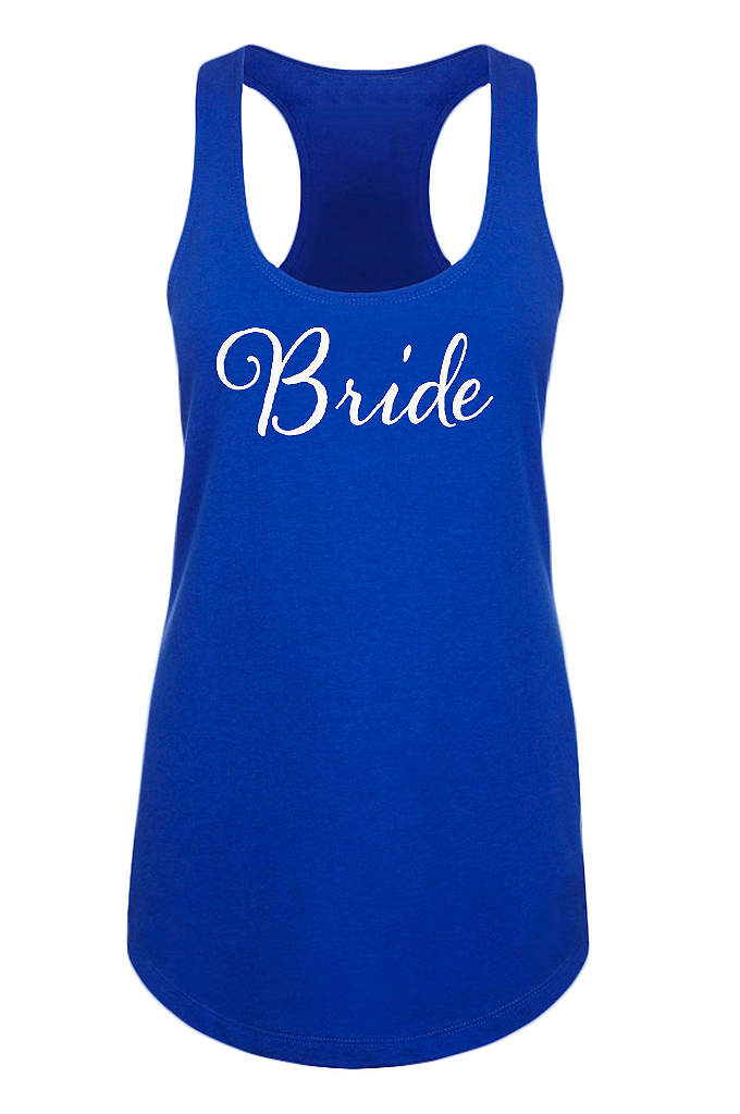 Bride Racerback Tank Top - Our sleek flowy racerback tank features Bride in