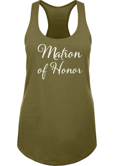 Grey (Matron of Honor Racerback Tank Top)
