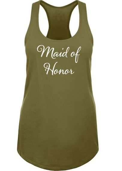 Maid of Honor Racerback Tank Top DBK-ALA-MOH