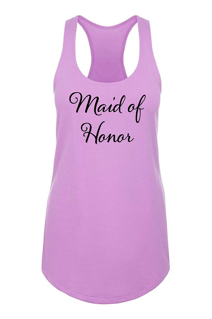 Maid of Honor Racerback Tank Top - Our sleek flowy racerback tank top features Maid