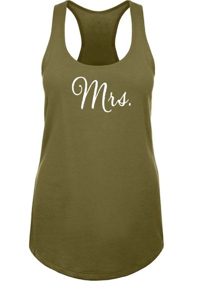 Mrs. Racerback Tank Top - Wedding Gifts & Decorations