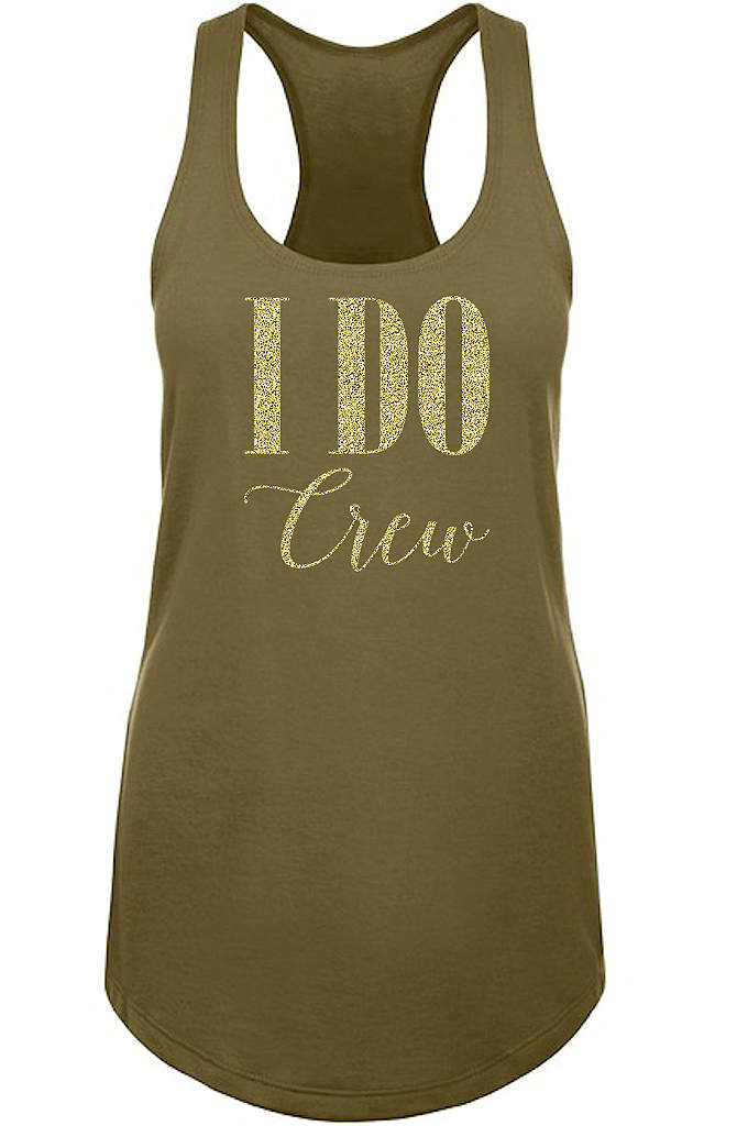 Glitter I Do Crew Racerback Tank Top - You're all set for an outing with the