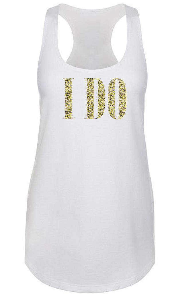 Glitter I Do Racerback Tank Top - You're all set for an outing with your
