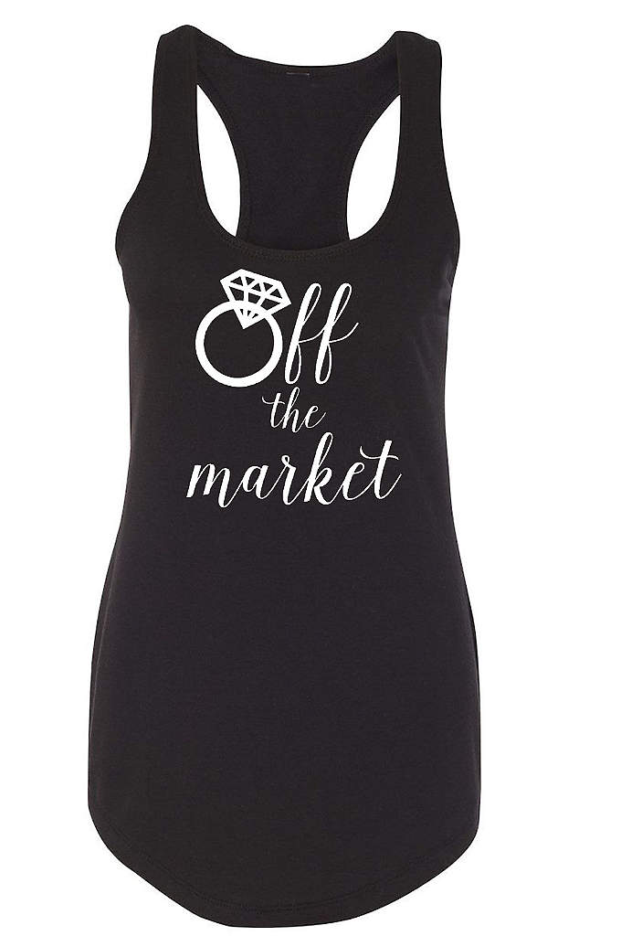 Off the Market Racerback Tank Top - Let the world know that you are engaged