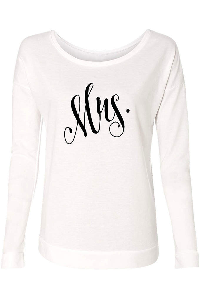 Fanciful Script Mrs French Terry Scoop Neck - Lightweight and luxurious, this French terry scoop neck