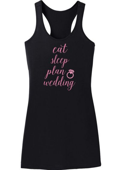 Eat Sleep Plan Wedding Sleep Dress DBK-SLPDRS-ESPW