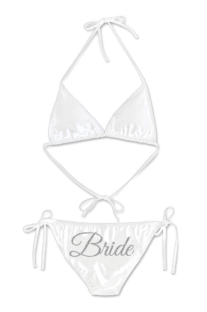 Glitter Print Bride Bikini - Sparkle and shine on your honeymoon in this