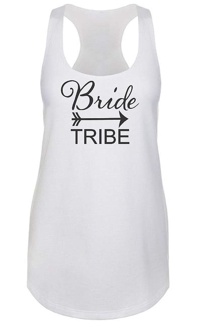 Bride Tribe Racerback Tank Top - This Bride Tribe tank top is a comfy