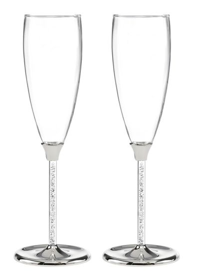 Personalized Glittering Bead Flutes - Wedding Gifts & Decorations