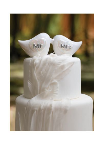 Porcelain Love Birds Cake Topper DBK20764