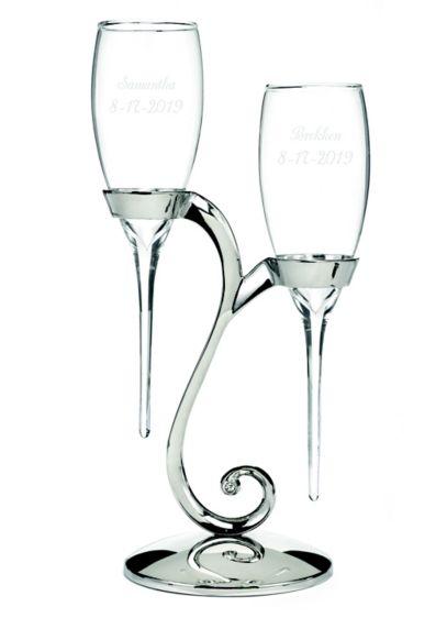 Personalized Elegant Raindrop Toasting Flutes - Wedding Gifts & Decorations
