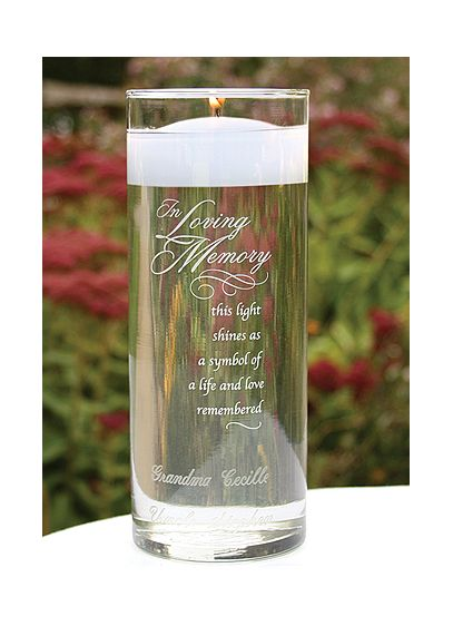 Personalized In Loving Memory Cylinder - Wedding Gifts & Decorations