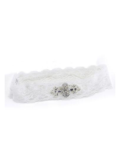 White (Vintage Bead Lace Garter)
