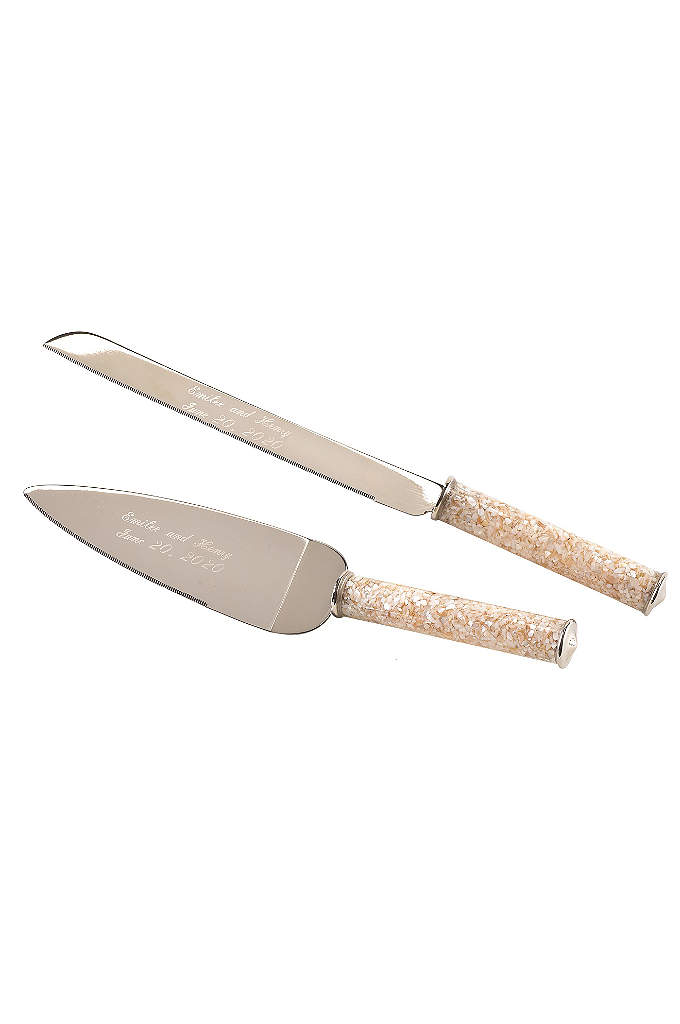 Personalized Mother of Pearl Serving Set - The ideal serving set for a destination or