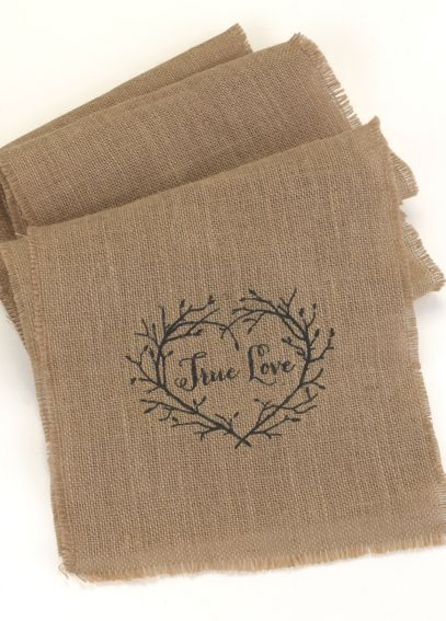 True Love Burlap Table Runner DBK31305