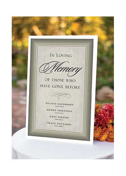 Personalized In Loving Memory Poster DBK32655P