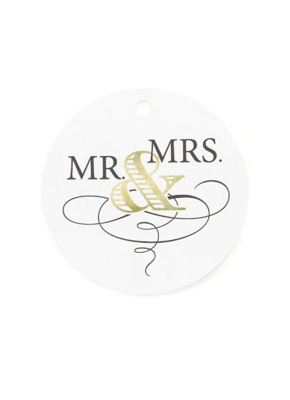 Golden Elegance Favor Tags Pack of 24 - Wedding Gifts & Decorations
