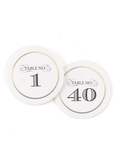 (Golden Elegance Table Numbers 1-40 Set)