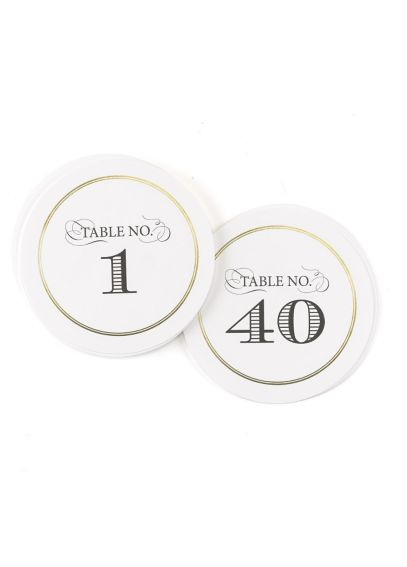 Golden Elegance Table Numbers 1-40 Set DBK34443