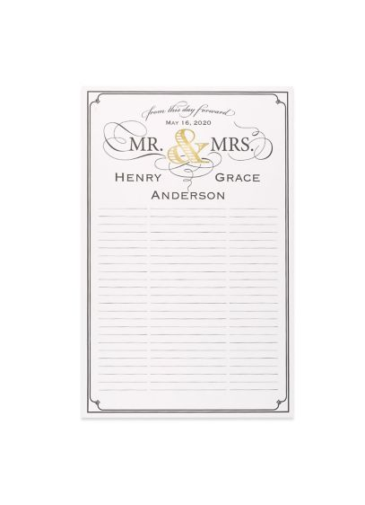 Personalized Golden Elegance Guest Book Poster - Wedding Gifts & Decorations